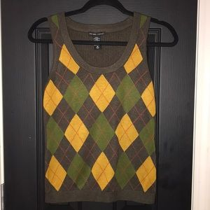 Argyle Pattern Vest